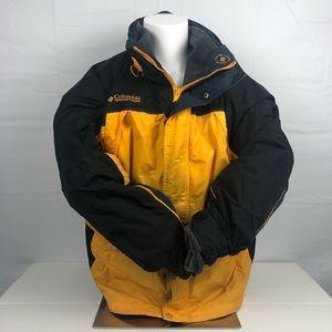 Columbia Yellow Heavy Winter Ski Jacket w/ Lining